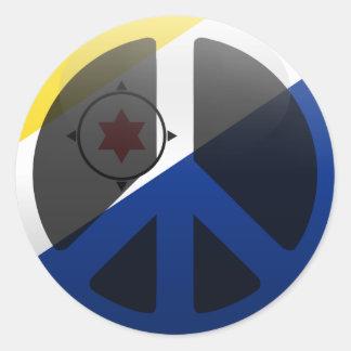 Peace in Bonaire Round Sticker
