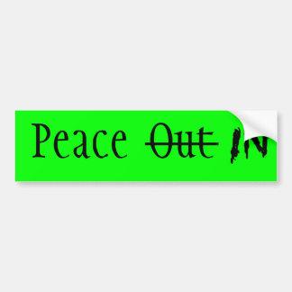 Peace In Bumper Sticker