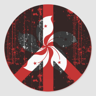 Peace In Hong Kong Classic Round Sticker