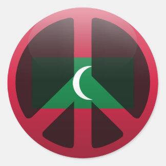 Peace in Maldives Sticker