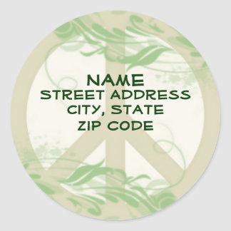 Peace in Nature Address label Stickers