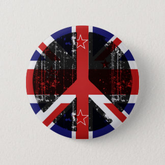Peace In New Zealand 6 Cm Round Badge