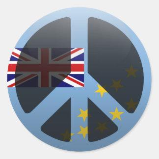 Peace in Tuvalu Round Sticker
