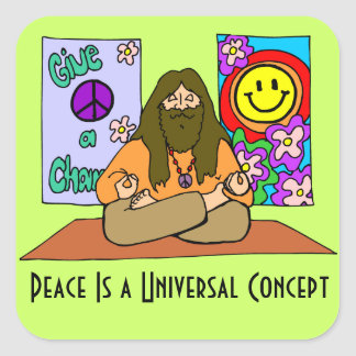 Peace is a Universal Concept Square Stickers