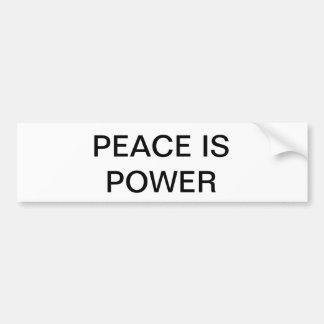 Peace Is Power Bumper Sticker