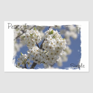 Peace is Simple Rectangle Sticker