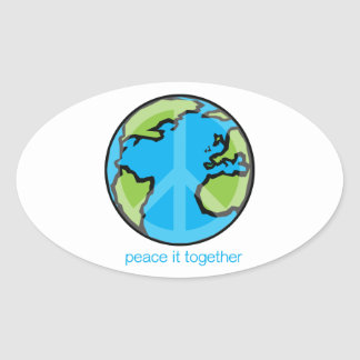 Peace it Together Customize Product Oval Sticker