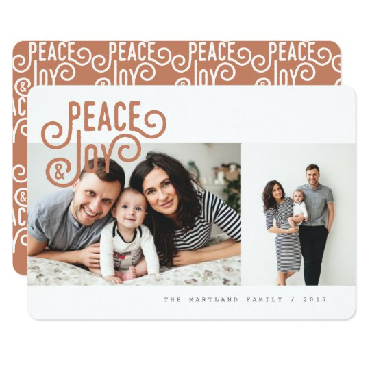 PEACE + JOY CARD