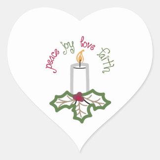 PEACE JOY LOVE FAITH HEART STICKERS