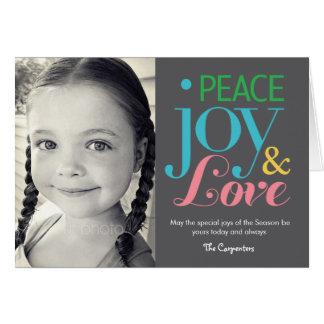 Peace Joy & Love Holiday Photo Card