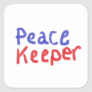 Peace keeper merchandise square sticker
