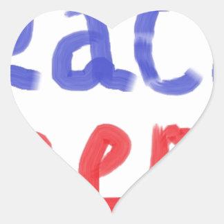 Peace keeper merchandise heart stickers