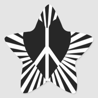 Peace Light Heart Silhouette Sticker
