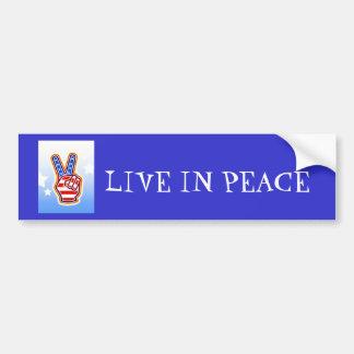 PEACE, LIVE IN PEACE BUMPER STICKER