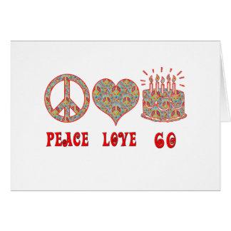 Peace Love 60 Card