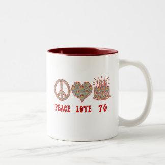 Peace Love 70 Two-Tone Coffee Mug