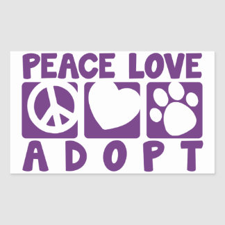 Peace Love Adopt Stickers