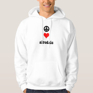 Peace love airedale hoodie