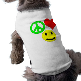 peace love and happiness pet clothing