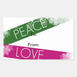 Peace, Love and Joy Sticker Christmas Tags