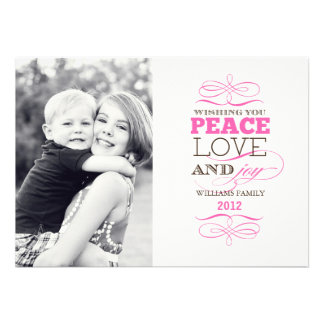 Peace Love and Joy Today s Best Award Personalized Invitation
