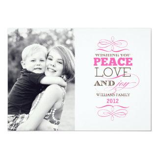 Peace Love and Joy (Today's Best Award) 13 Cm X 18 Cm Invitation Card