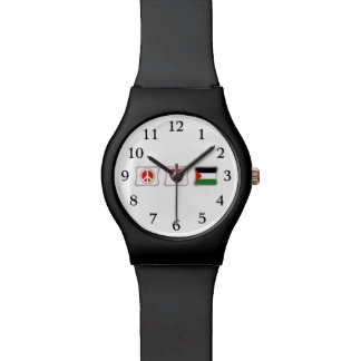 Peace Love and Palestine Squares Wristwatch