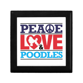 Peace Love and Poodles Gift Box