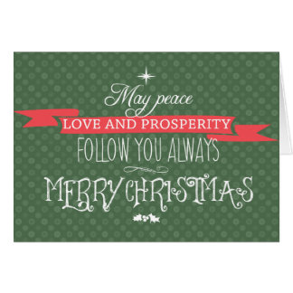 Peace, Love and Prosperity Card