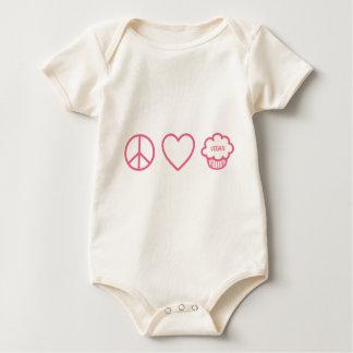 Peace, Love and Vegan Cupcakes Bodysuits
