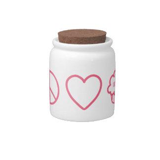 Peace, Love and Vegan Cupcakes Candy Jar