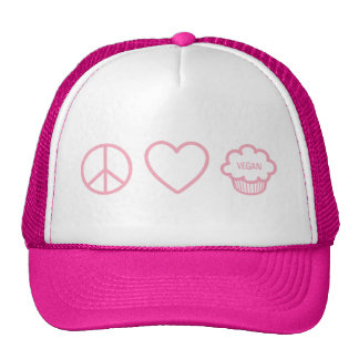 Peace, Love and Vegan Cupcakes Trucker Hat