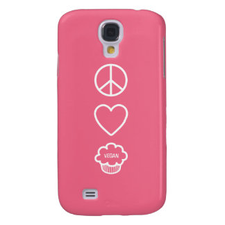 Peace, Love and Vegan Cupcakes Galaxy S4 Cases