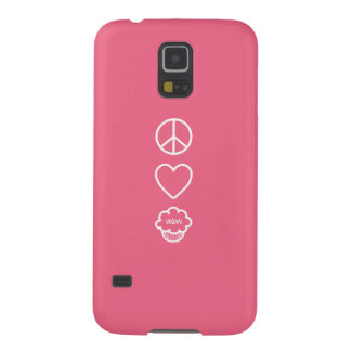 Peace, Love and Vegan Cupcakes Cases For Galaxy S5