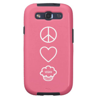Peace Love and Vegan Cupcakes Samsung Galaxy S3 Covers