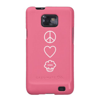 Peace Love and Vegan Cupcakes Samsung Galaxy S2 Cases