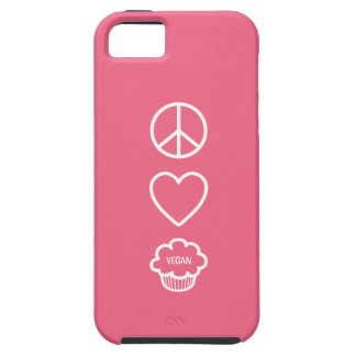 Peace, Love and Vegan Cupcakes iPhone 5 Cases