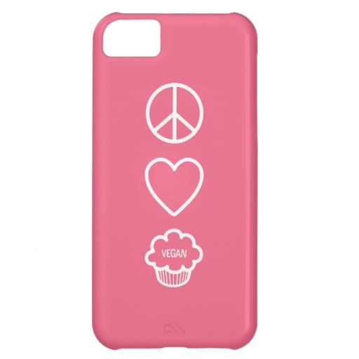 Peace, Love and Vegan Cupcakes iPhone 5C Covers