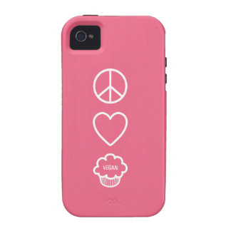 Peace, Love and Vegan Cupcakes Vibe iPhone 4 Covers