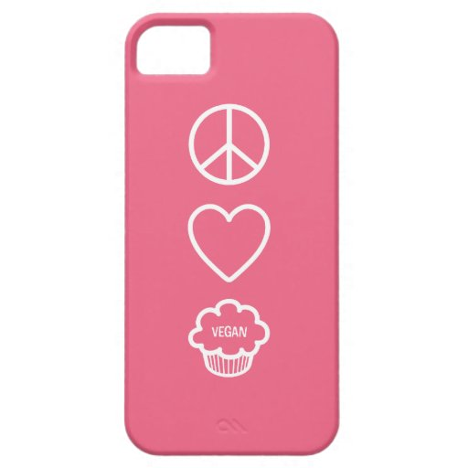Peace, Love and Vegan Cupcakes iPhone 5 Covers