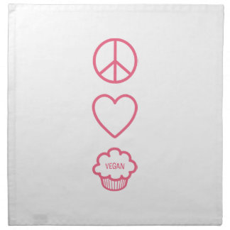 Peace, Love and Vegan Cupcakes Cloth Napkins