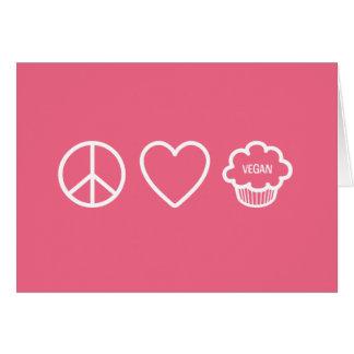 Peace, Love and Vegan Cupcakes Greeting Card
