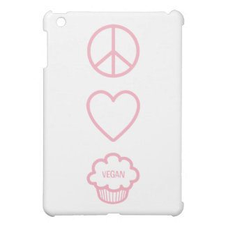 Peace, Love and Vegan Cupcakes iPad Mini Covers