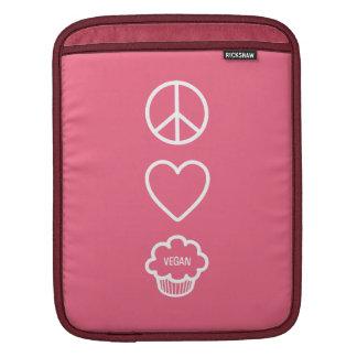 Peace, Love and Vegan Cupcakes iPad Sleeve