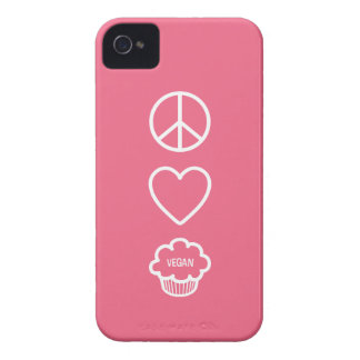 Peace Love and Vegan Cupcakes iPhone 4 Case