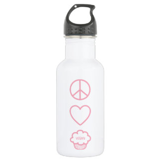Peace, Love and Vegan Cupcakes Liberty Bottle 532 Ml Water Bottle