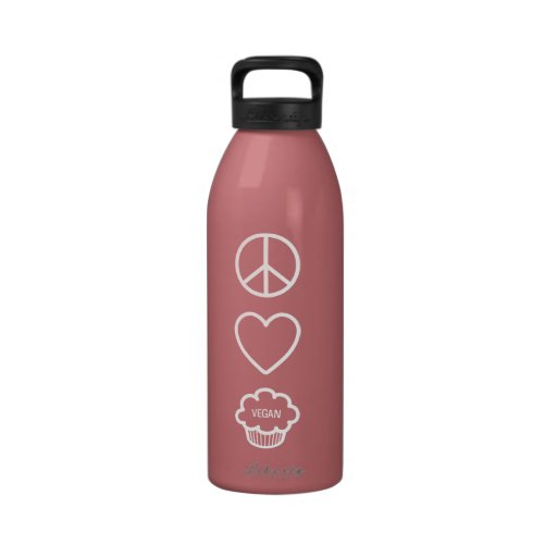 Peace, Love and Vegan Cupcakes Liberty Bottle Water Bottles
