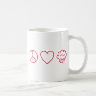 Peace, Love and Vegan Cupcakes Basic White Mug