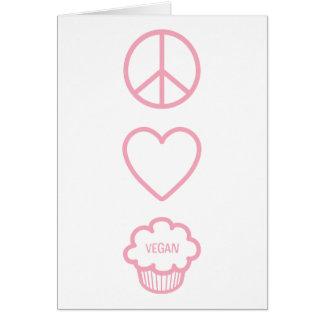 Peace, Love and Vegan Cupcakes Note Card