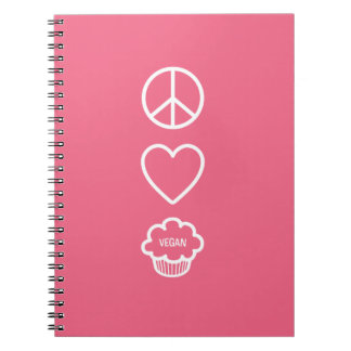 Peace, Love and Vegan Cupcakes Notebook